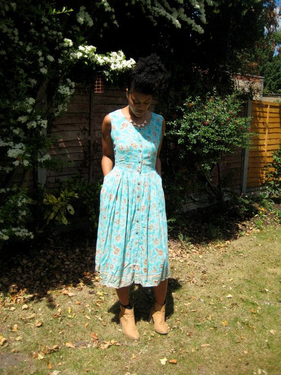 Vintage Floral Dress on ASOS Marketplace. Dotty Theresa Vintage modelled by #KeiraFleur #LoveVintageWithDotty