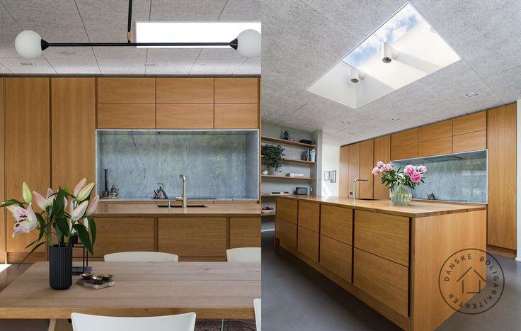 Ovenlys i køkken. Huset er tegnet af arkitekt maa Rasmus Bak.
