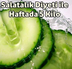 Salatalık Diyeti Listesi