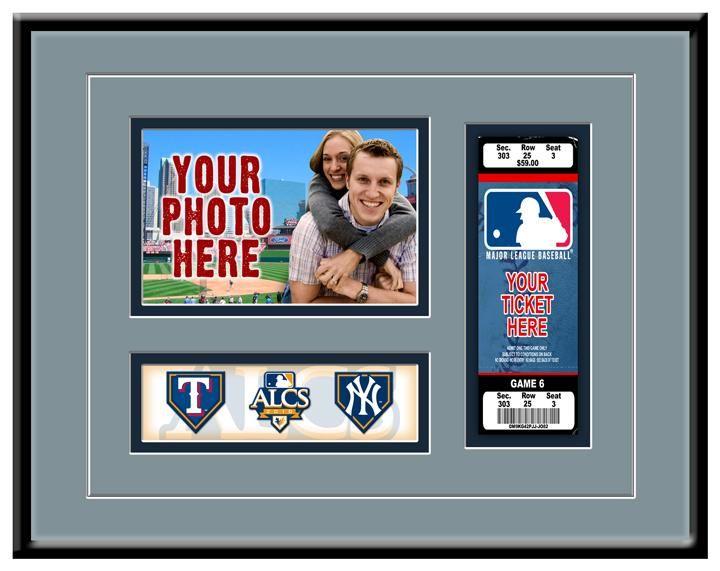 MLB 2010 ALCS New York Yankees vs Texas Rangers Ticket Frame