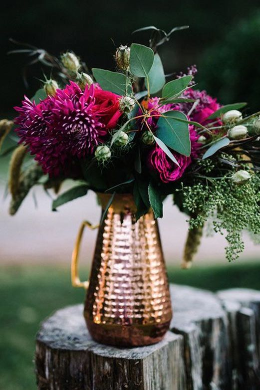 Autumn wedding flowers #florals #love #beautiful #copper #wedding