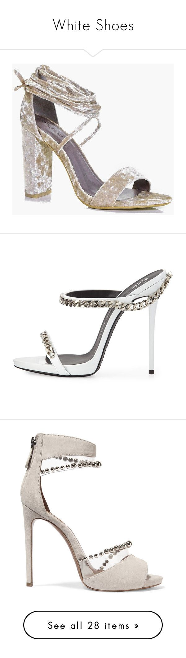 """""""White Shoes"""" by taliamariah-cirillo ❤ liked on Polyvore featuring shoes, sandals, cocktail shoes, floral shoes, evening sandals, evening shoes, flatform sandals, heels, strappy high heel sandals and high heel sandals"""