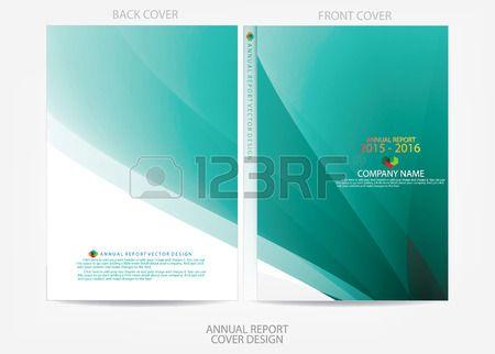 Conception de la couverture du rapport annuel Banque d'images