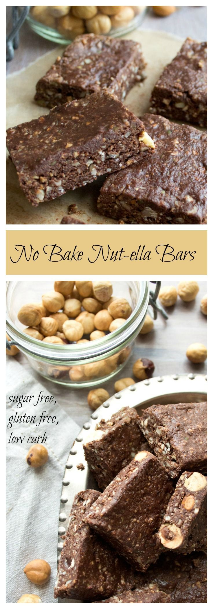 Your new dirty clean-eating secret: No bake nut-ella bars. Packed with hazelnuts, seeds and a generous helping of happiness-inducing dark chocolate.
