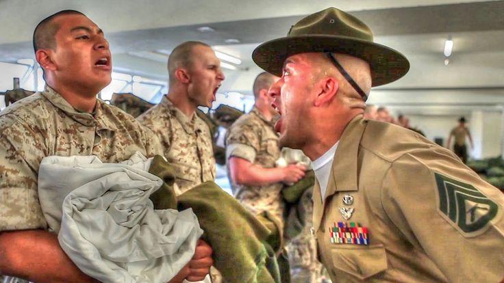 Marine Corps Boot Camp – Recruits Meet Drill Instructors