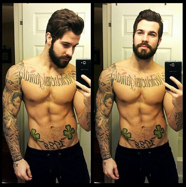 29 Best Men Muscles Beards Amp Tattoos Images On