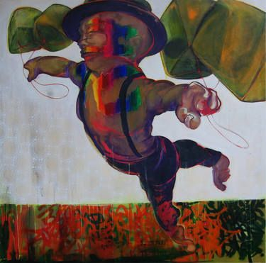 "Saatchi Art Artist Yunizar Mursyidi; Painting, ""FLY"" #art #artists #painting #expretion #body #urban"