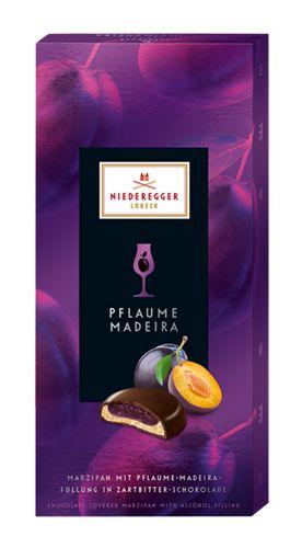 Niederegger, Dark chocolate marzipan with plum and madeira