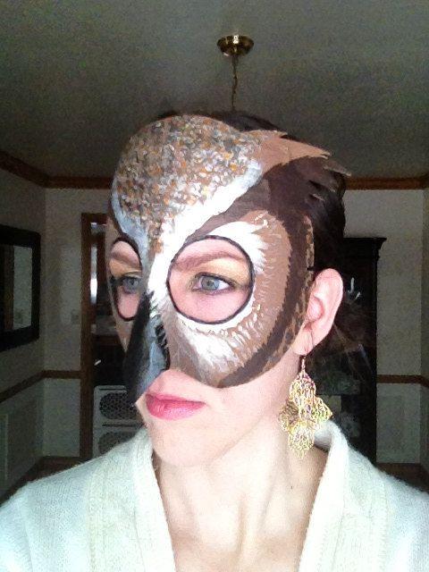 máscara de búho Cornudo, máscara de búho, tucúquere traje, traje del buho