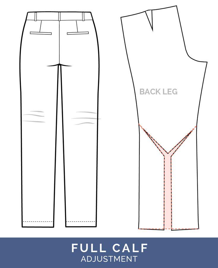 Full Calf Adjustment // Pants Fitting Adjustments // Closet Case Patterns