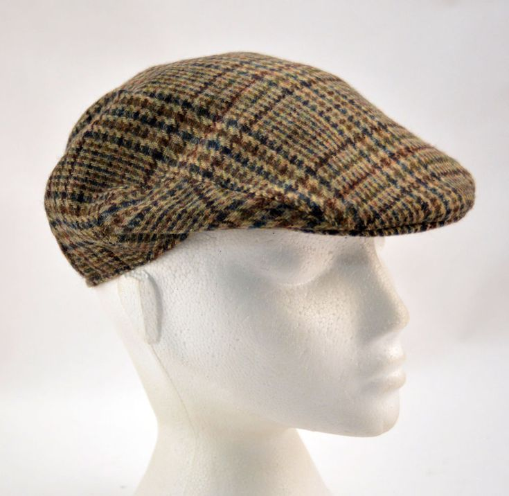 Mens Ladies Check Flat Cap Failsworth Country Club in-Lined Clearance UK55cm