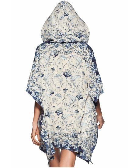 Ocean Print Silk Luxury Travel Tunic by Agua Bendita