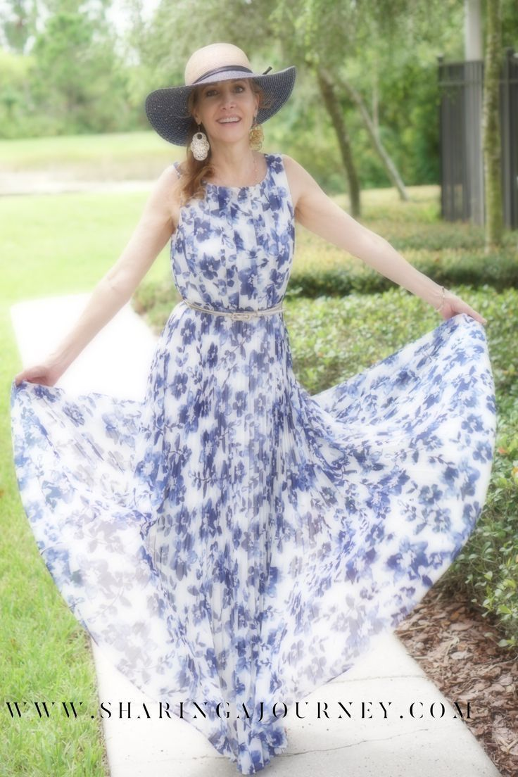 How To Style A Beautiful Floral Maxi Dress Fashion Tips For Women Over 50 A Perfect Outfit To Wear On Vacati Summer Dresses For Women Fashion Fashion Over 50 [ 1104 x 736 Pixel ]