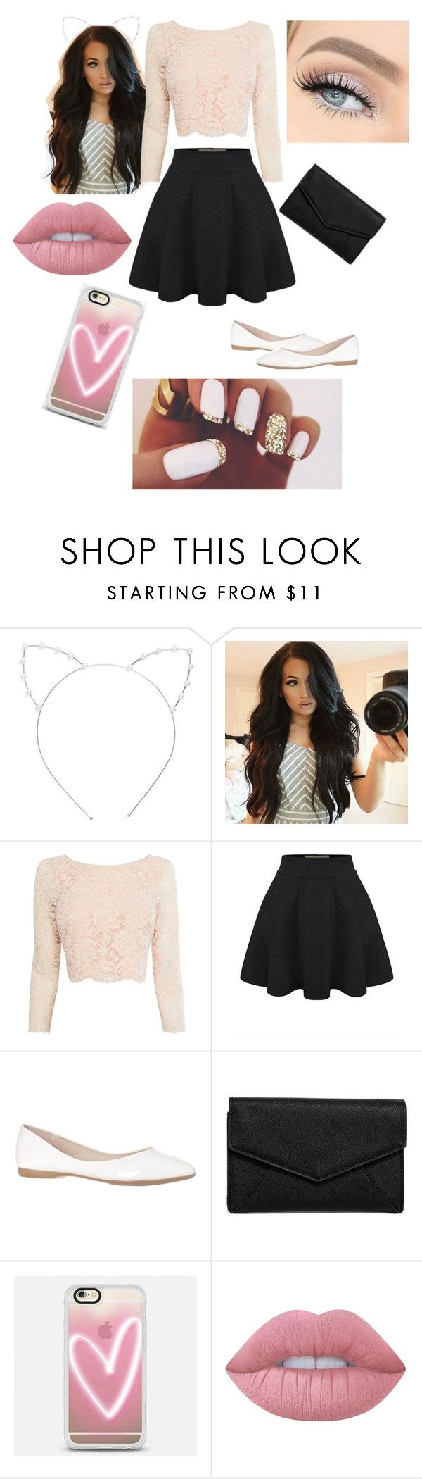 """Ariana Grande concert outfit"" by aileygalbreath ❤ liked on Polyvore featuring Cara, Coast, LULUS, Casetify and Lime Crime"
