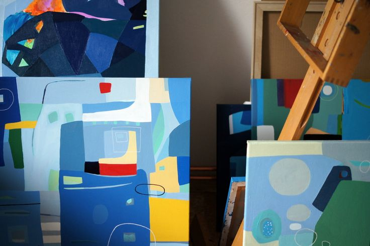 at my studio