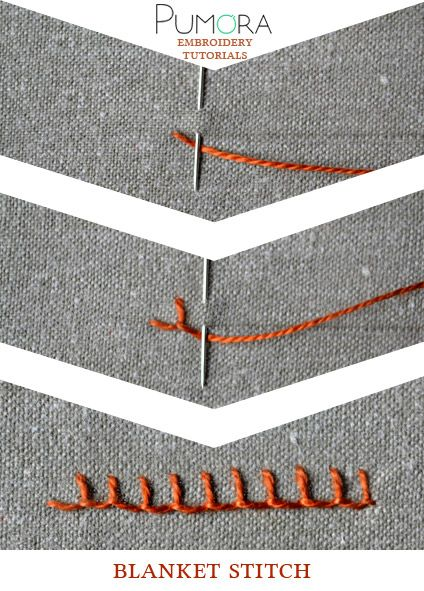 Pumora's embroidery stitch-lexicon: the blanket stitch
