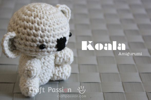 Get the free pattern and tutorial on how to crochet a koala amigurumi.
