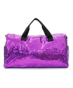 Large Travel Duffle Purple Sequined Ladies Gym Bag Lots of Sparkle Overnight Bag | eBay