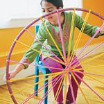 the DIY hula hoop rug!