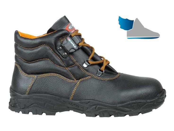 Pracovná, robotnícka, členková obuv  SCREE S3 SRC  z nepremokavej kože.