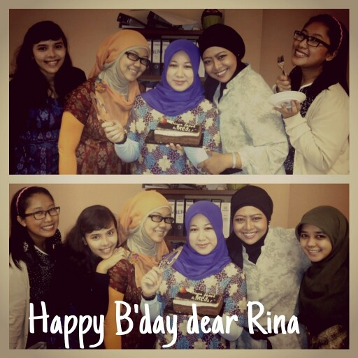 Big birthday surprise to Rina