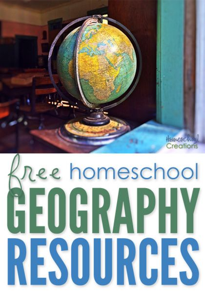 Free homeschool geography resources - notebooking printables for world geography studies