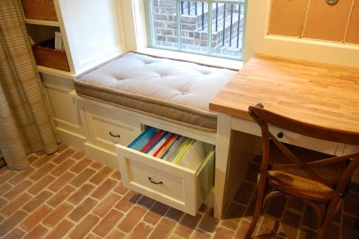 Built In Drawers Under A Cushioned Window Seat Where You