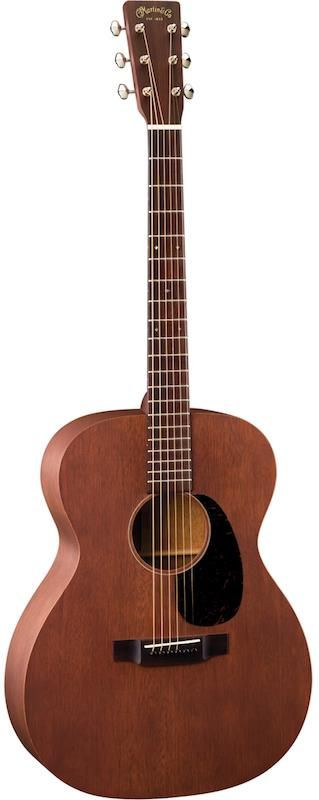 "Martin 000-15M.   As the label implies, this guitar features a 000 (triple ""O"") body, which is smaller than their standard dreadnought and orchestra shapes but bigger than traditional parlor guitar shapes.  Street price: $1460."