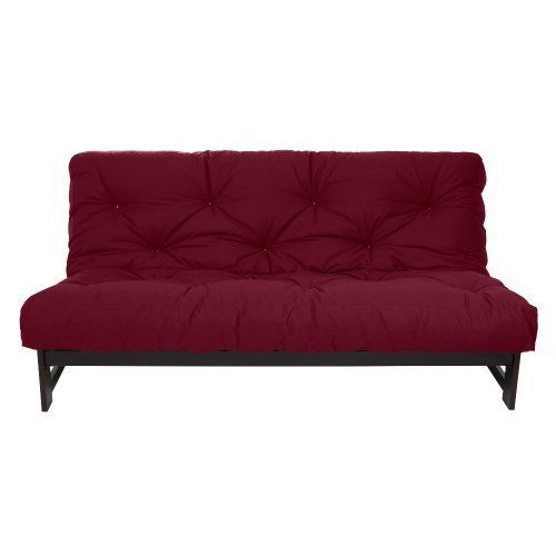 Mozaic Twin Size 8-Inch Futon Mattress, Burgundy by Mozaic. $124.95. 75-inch by 39-inch by 8-inch thick. Completely reversible. Cotton wrapped foam. The 8-inch twin size futon mattress is constructed of cotton wrapped foam with a durable cotton cover. It is lace tufted with white thread. The futon mattress is completely reversible. It ships vacuum packed bagging inside a box. Please allow several days for the mattress to return to its full loft and for the wrinkles in the cotton...