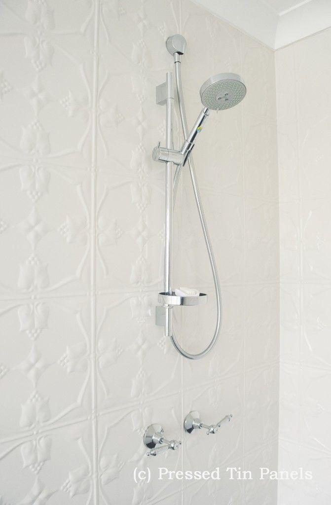 PressedTinPanels_Tulip_900x1800_ShojiWhite_Bathroom_ShowerRecess_InternalCorner_Close