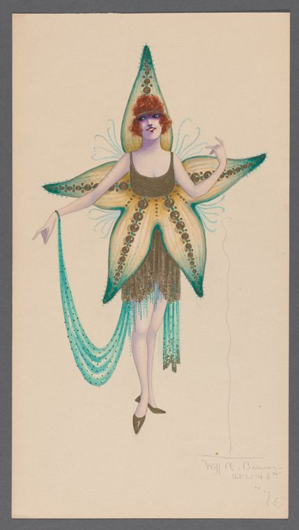 Starfish costume From New York Public Library Digital Collections.