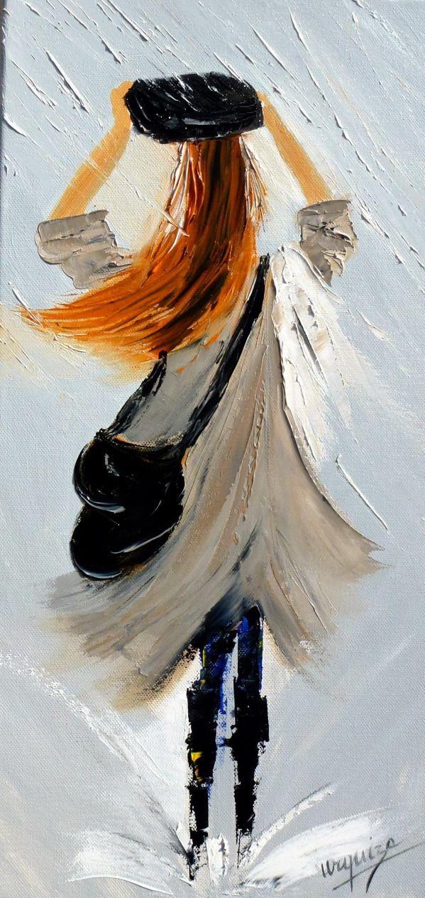 Chantal Urquiza - mademoiselle en beige sous la pluie