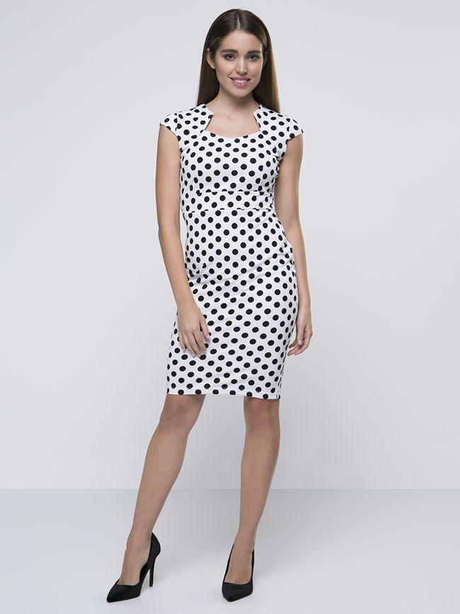 Asos bodycon dress with cutouts polka dot