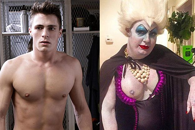 Colton Haynes Just Out-Halloweened Himself By Dressing Up As Ursula