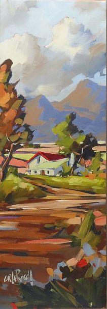 African Farmhouse by CARLA BOSCH Oil on Canvas 45x60cm