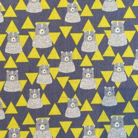 Geometric bears on grey