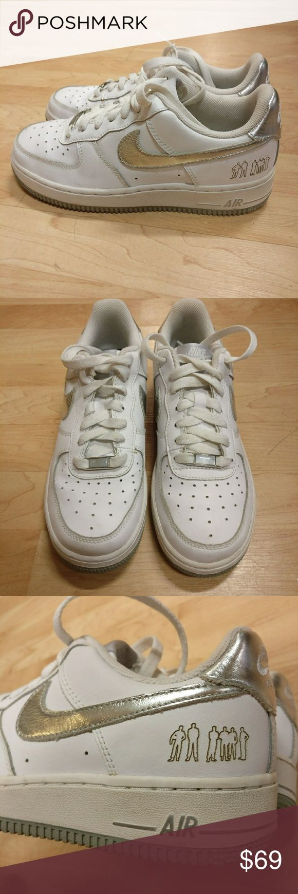 Nike Air Force 1 Premium Original Six 2006 Nike Air Force 1 Premium Sneakers Original Six 2006, over ten years old!  White & silver  In great condition, barely worn!  Size youth 6 Nike Shoes Sneakers