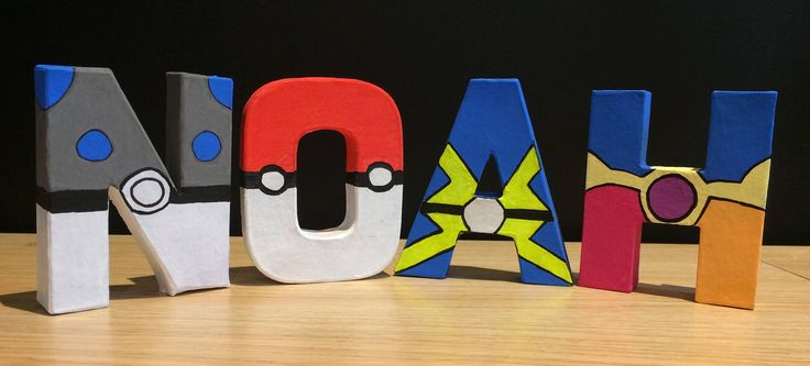 A personal favourite from my Etsy shop https://www.etsy.com/uk/listing/525725640/pokemon-name-letters-handpainted-pokemon