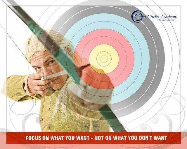 My intention for today is: Focus on what you want – Not on what you don't want