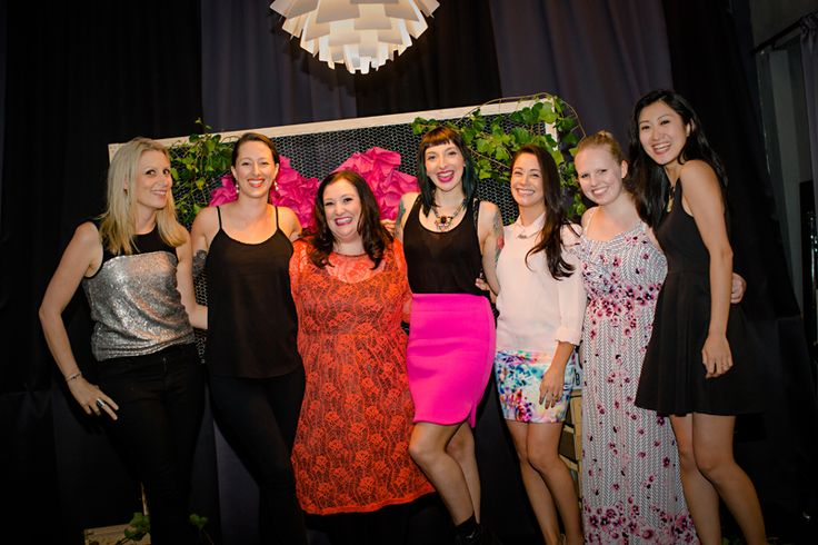 Gala Darling and the event team! The Elemental Agency, Julie Parker, Event Head, Ruffles & Bells - Event Styling and Planning.  Photo by Fi Mims Photography — with Yvette Luciano, Courtney Steed, Julie Parker, Jade McKenzie and Eliska Lam-Chan Siy at The Cullen.