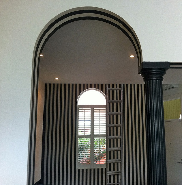 Wallpaper in arch hung by Aidan Griffin at Cutting Edge Wallpapering in Melbourne