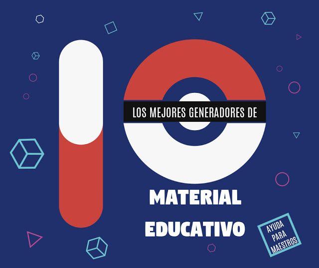 AYUDA PARA MAESTROS: Los mejores generadores de material educativo