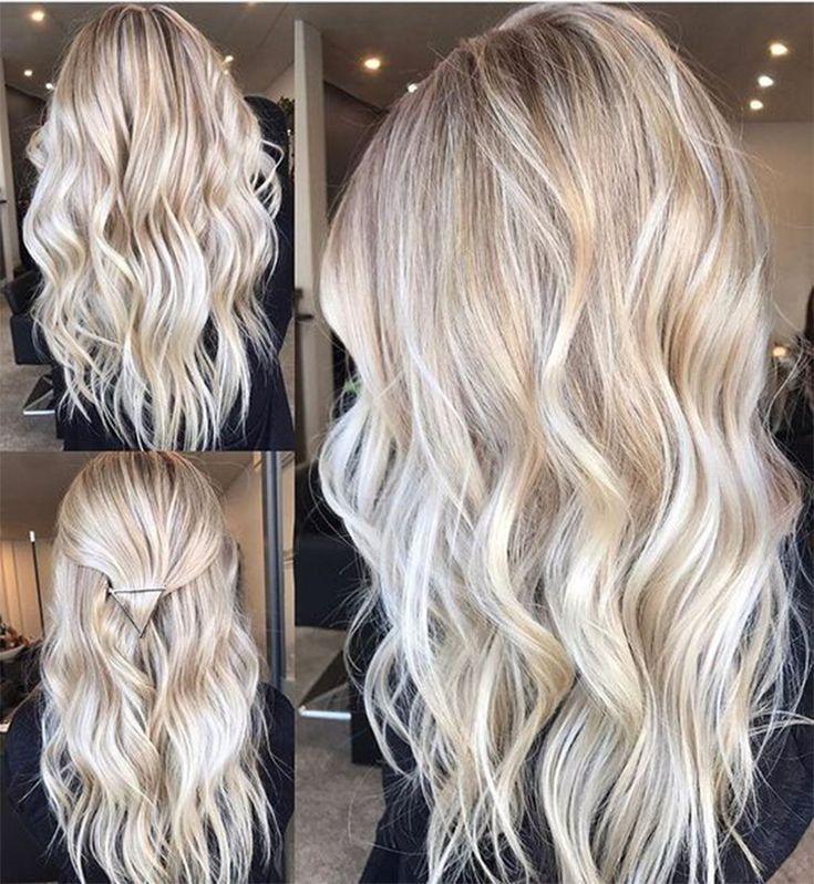 49 Haarfarbtrends im Jahr 2019 Vorher & Nachher: Platin auf dem Haar + Tipps - Frisuren - #amp #Farbtrends #Haar #Frisuren #Jahr