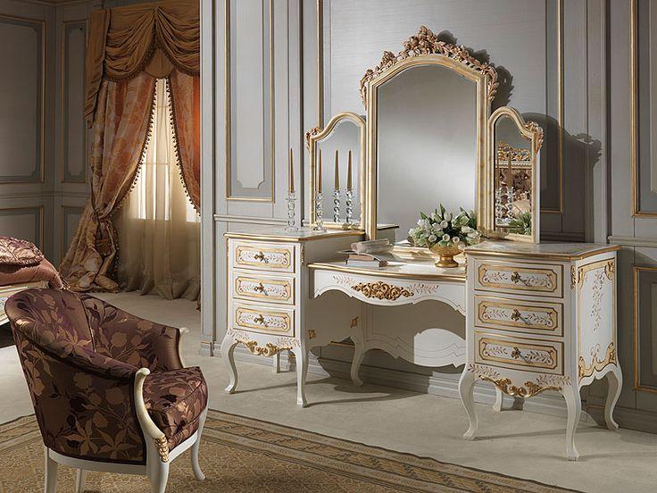 Victorian Makeup Vanity 4 Pc Victorian Manor Panel Bedroom