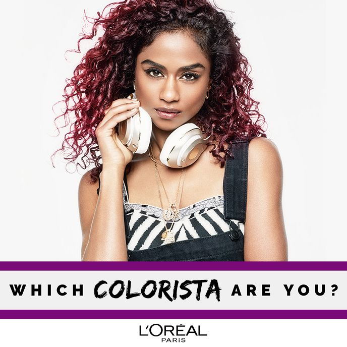 Ready for a long term commitment?  New Colorista Permanent Paints from L'Oréal Paris.  With metallic, burgundy and smokey tones, a palette hacked directly from make-up, find out which Colorista you are today. #DoItYourWay