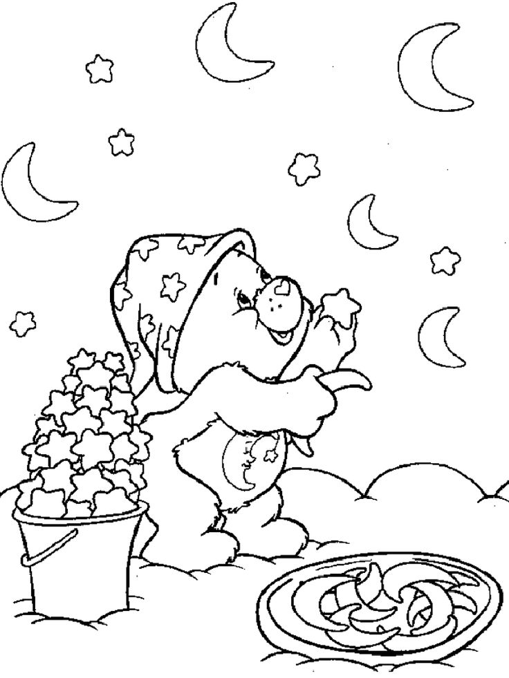 Care Bear Moon And Stars Coloring Pages