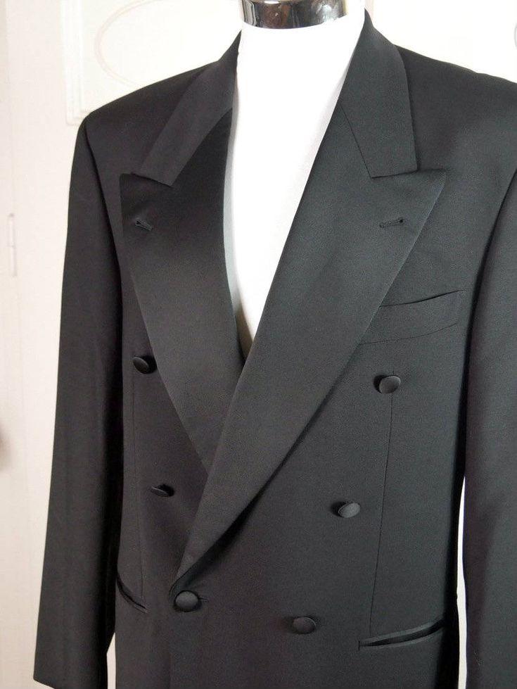 Vintage Hugo Boss Tuxedo Jacket, Double-Breasted Black Dinner Jacket, 1990s European Vintage Smoking Jacket, Peak Lapel Tux Jacket: Size 44R by YouLookAmazing on Etsy