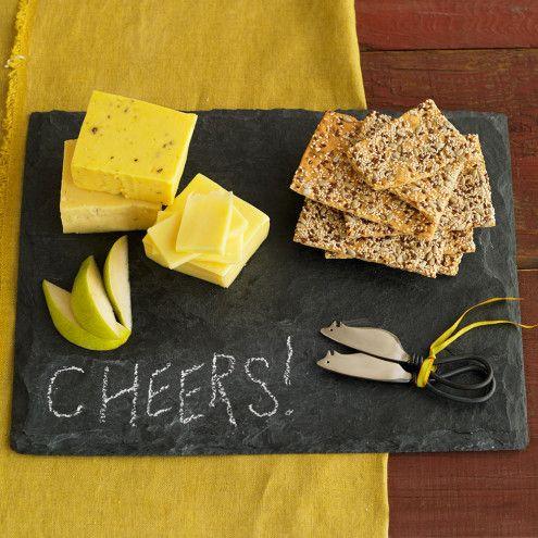 Slate Cheese Board Set   VivaTerra
