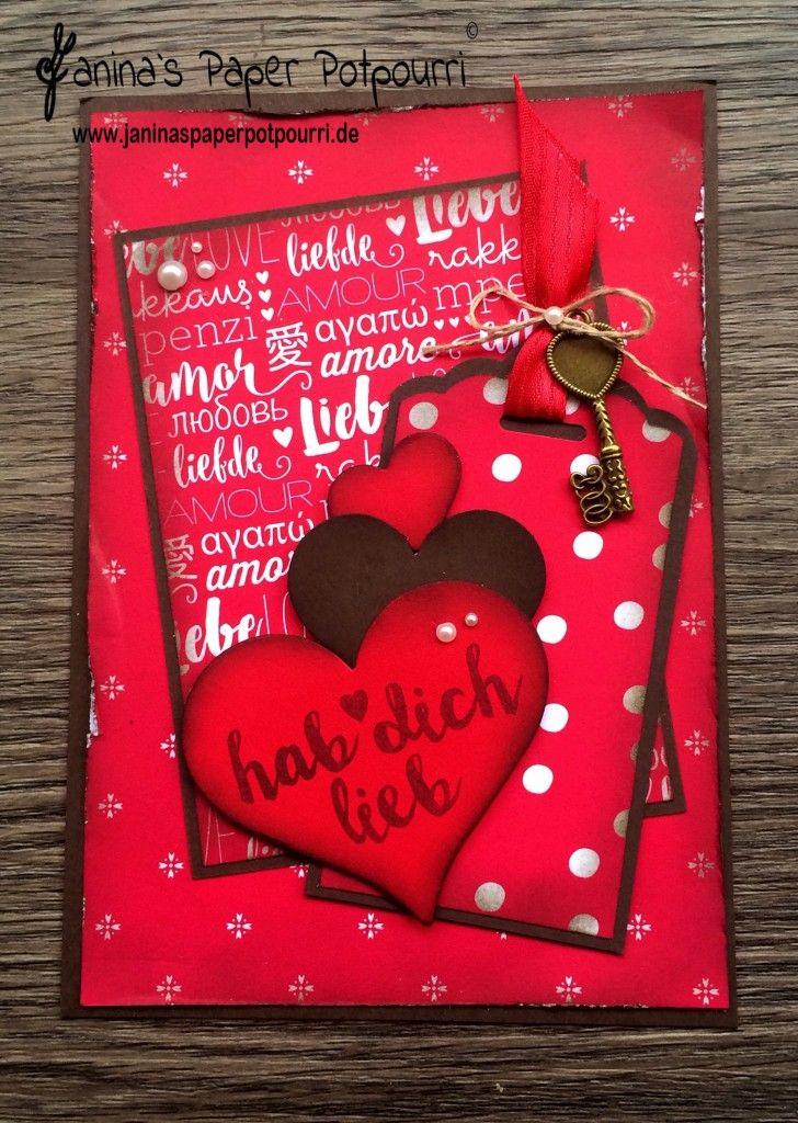 Jpp   Designerpapier Karte /card DSP / Valentineu0027s / Valentinstag / Liebe/  Sneak Peek