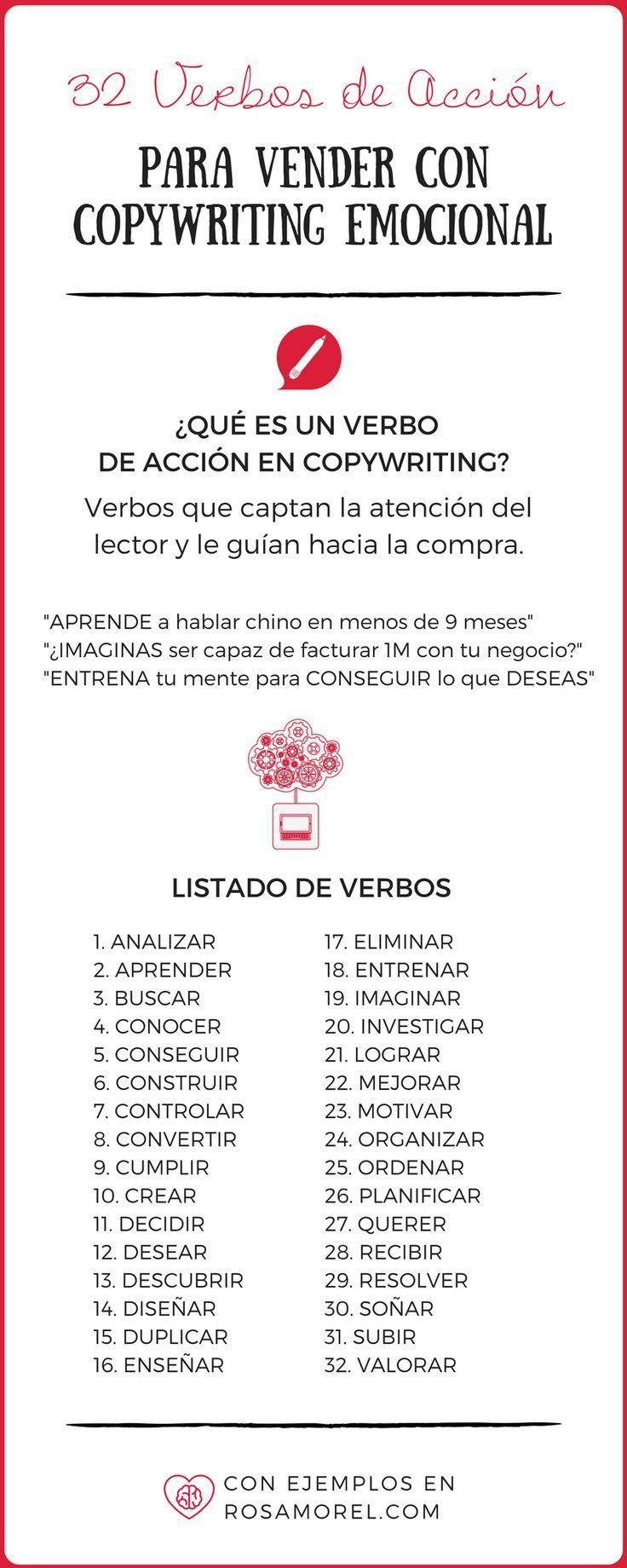 Verbos De Accion En Español Copywriting Verbos De Acción